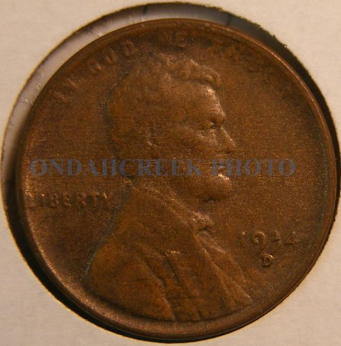 1934-D Lincoln Cent AU Woody