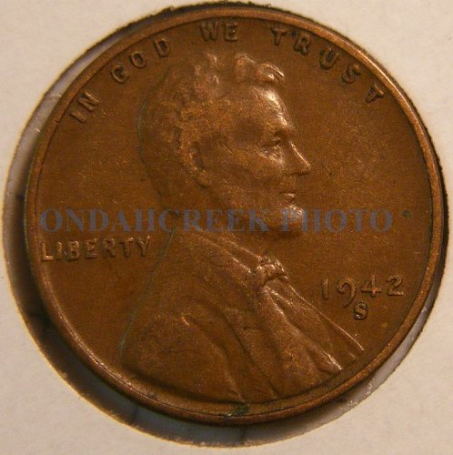 1942-S Lincoln Cent Choice VF RPM #4 Best Of Variety