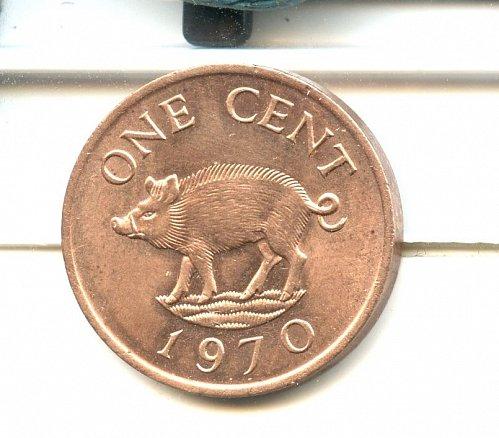 1970 Razorback Bermuda cent BU