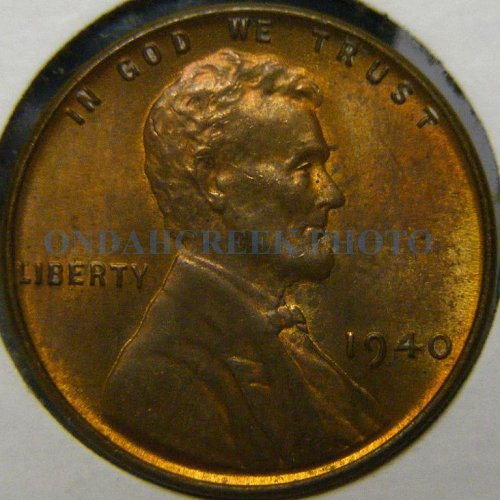 1940 Lincoln Cent Doubled Die as Coppercoins 1DO-006 CHBU w Die Break Error