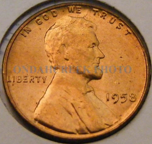 1958 Lincoln Cent Spiked Head Shattered Skull Die Breaks CHBU