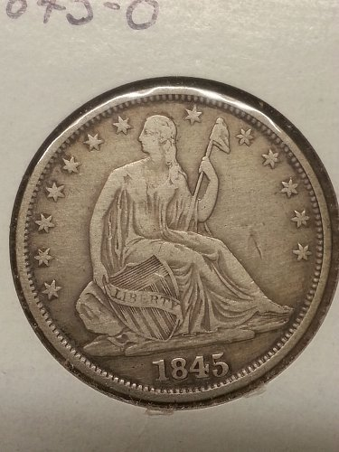 1845-O Seated Liberty Half