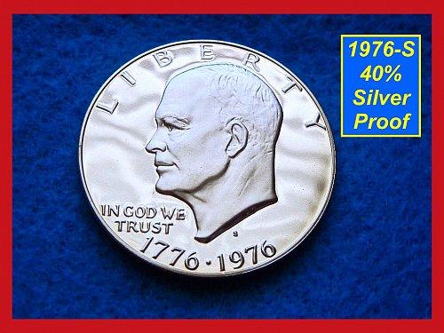 1976-S Eisenhower Dollar •••40% Silver Proof   (#6055)