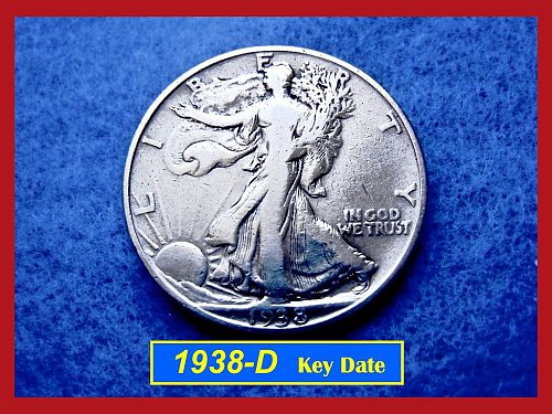 1938-D  KEY DATE Liberty Walking Half Dollar –––  (#1428)
