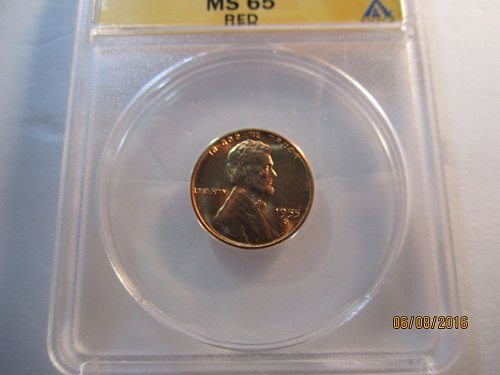 1955 S GRADED MS65RD   ANACS