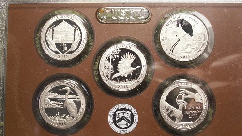 2015 S Washington Silver Proof Quarter Set