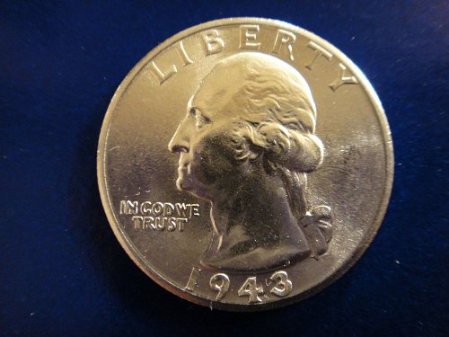 1943-D Washington Quarter MS-65 (GEM) Gorgeous BLAST WHITE!