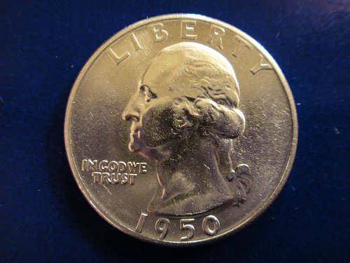 1950-D Washington Quarter MS-63 (Choice BU) BLAST WHITE!