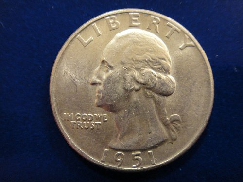 1951-D Washington Quarter Almost Uncirculated-50 Nice Feather Defintion!