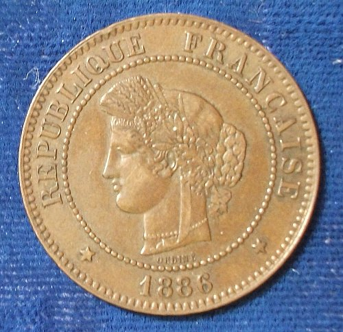 1886A France 5 Centimes XF