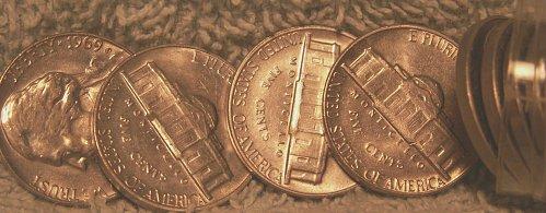 1969 S Jefferson Nickel Roll Unc