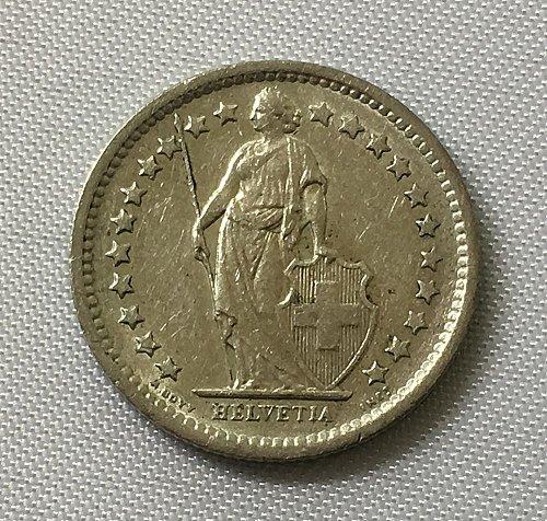 SWITZERLAND 1966 B  1/2 FRANC SILVER