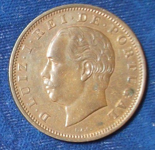 1884 Portugal 20 Reis XF