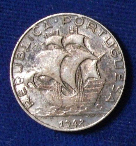 1942 Portugal 2 1/2 Escudos XF