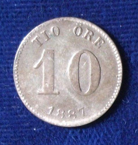 1887EB Sweden 10 Ore Fine