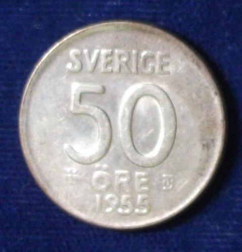 1955 Sweden 50 Ore AU