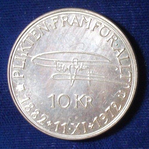 1972 Sweden 10 Kronor UNC Details