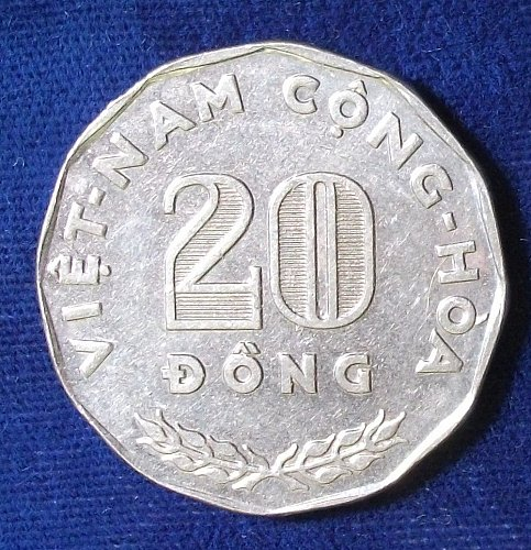 1968 South Viet-Nam 20 Dong AU