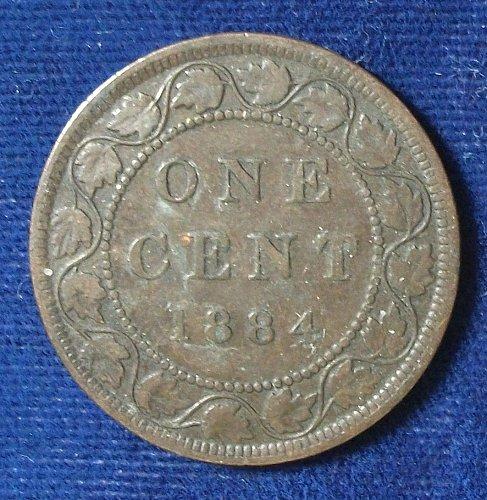 1884 Canada Cent FINE