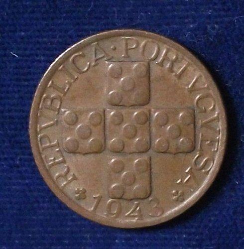 1943 Portugal 20 Centavos XF