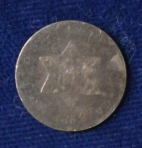 1852 Three Cent Silver Fair/AG