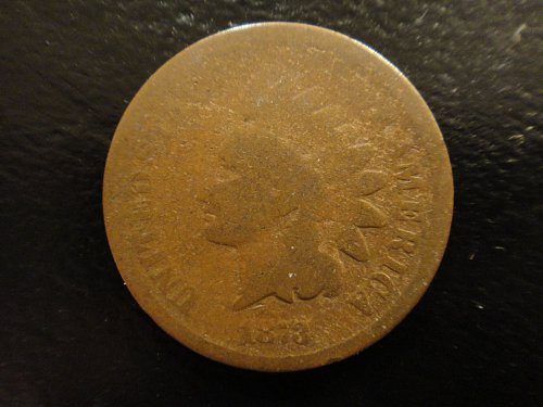 1873 Closed 3 Indian Cent Good-4 Nice Near Even Wear & Minimal Marks!