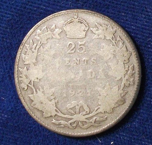 1921 Canada 25 Cents AG-Good