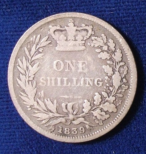 1859 Great Britain Shilling G-VG