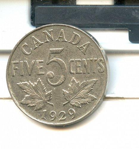 1929 Canadian Nickel F
