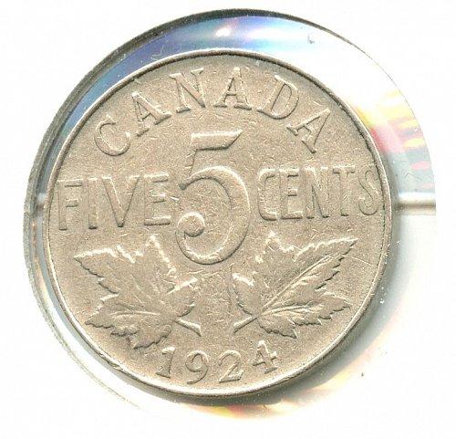 1924 Canadian Nickel