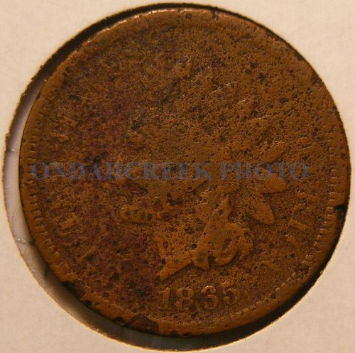 1865 Indian Head Cent Fancy 5 Filler