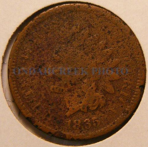 1865 Indian Head Cent Fancy 5 Filler