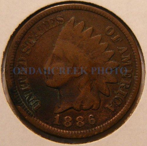 1886 Indian Head Cent Horse Head Reverse