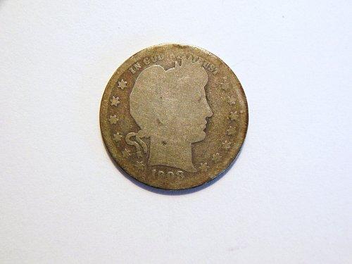 1908-S Silver Barber Quarter