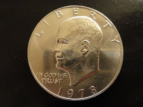 1978 Eisenhower Dollar MS-64 (Near Gem) Check Out The Creamy Luster!