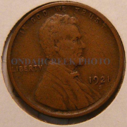 1921-S Lincoln Cent Fine