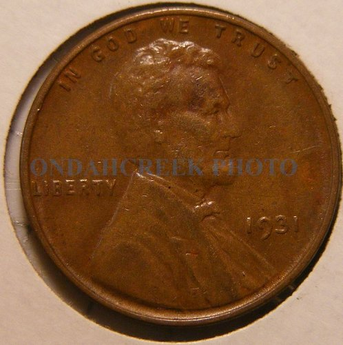 1931 Lincoln Cent XF