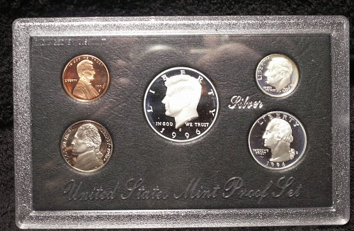 1996 S Silver Proof Set