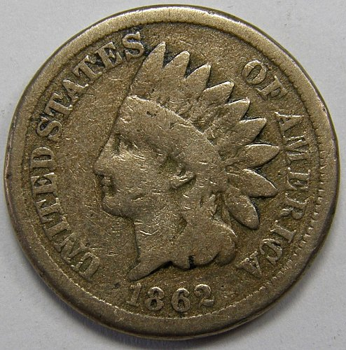 1862 P Indian Head Cent #7