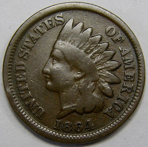 1864 P Indian Head Cent #16