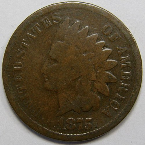 1875 P Indian Head Cent #10