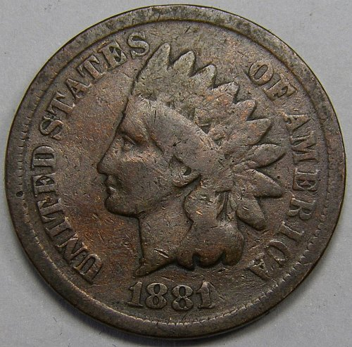 1881 P Indian Head Cent #7