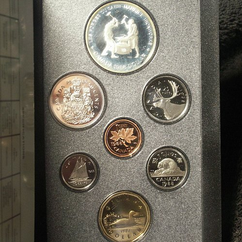 1988 Canada Double Dollar Proof Set