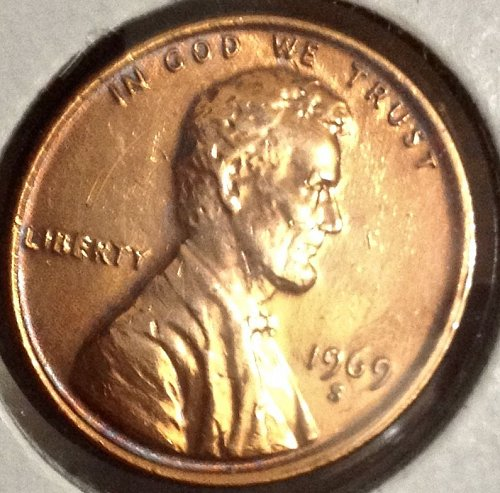 "1969 - S Lincoln Memorial Cent - Error Penny - Doubled ""Liberty"""