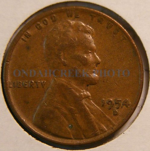 1954-D Lincoln Cent RPM #1 FS-501 (021.76) VF