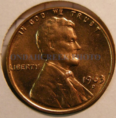 1963-D Lincoln Cent Doubled Die DDO-005 Choice BU plus