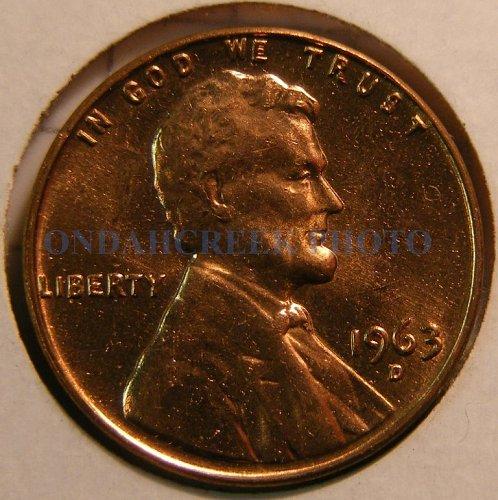1963-D Lincoln Cent Doubled Die DDO-005 Choice BU plus