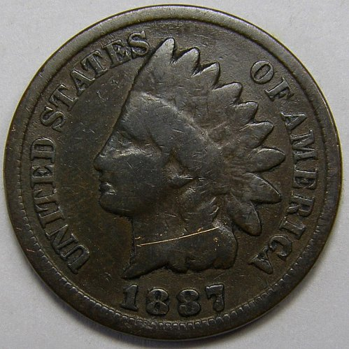 1887 P Indian Head Cent #5
