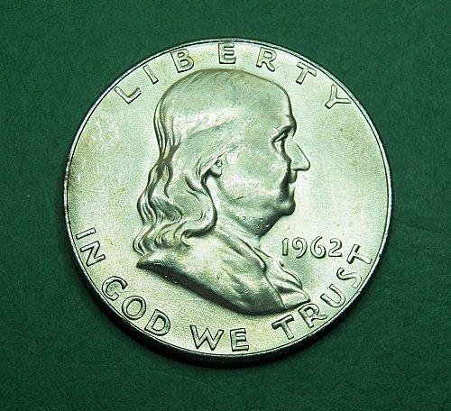 1962 D Franklin Half Dollar Brilliant Uncirculated Coin   g23