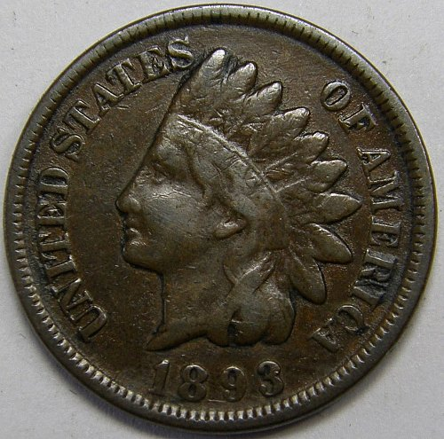 1893 Indian Head Cent #6